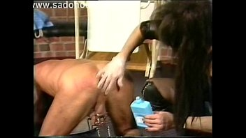 Mistress fucks her slave while sitting with his ass and makes him cum BadGirlandBadBoy